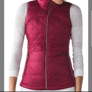 Lululemon Berry Down For A Run vest